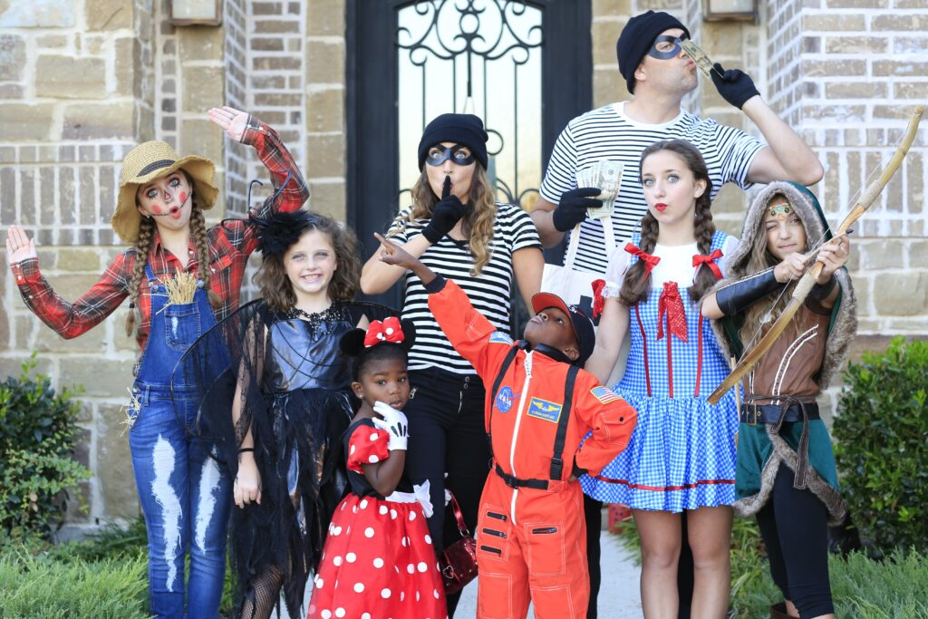 Mcknight family on halloween