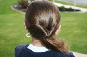 Back view of the Teen-Flipped Side Ponytail | Easy Hairstyles