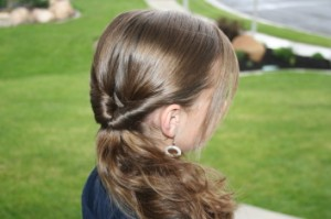 Side view of the Teen-Flipped Side Ponytail | Easy Hairstyles