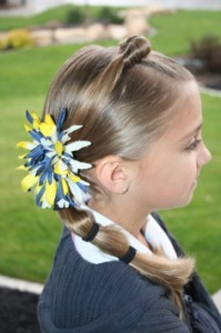 Top Knot Banded Ponytail