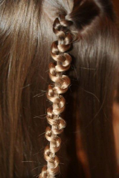 Как сделать зигзаги из волос