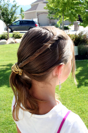 Easy Hairstyles: Triple Twistback Side Ponytail