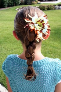Back view of the Triple-Twist Ponytail