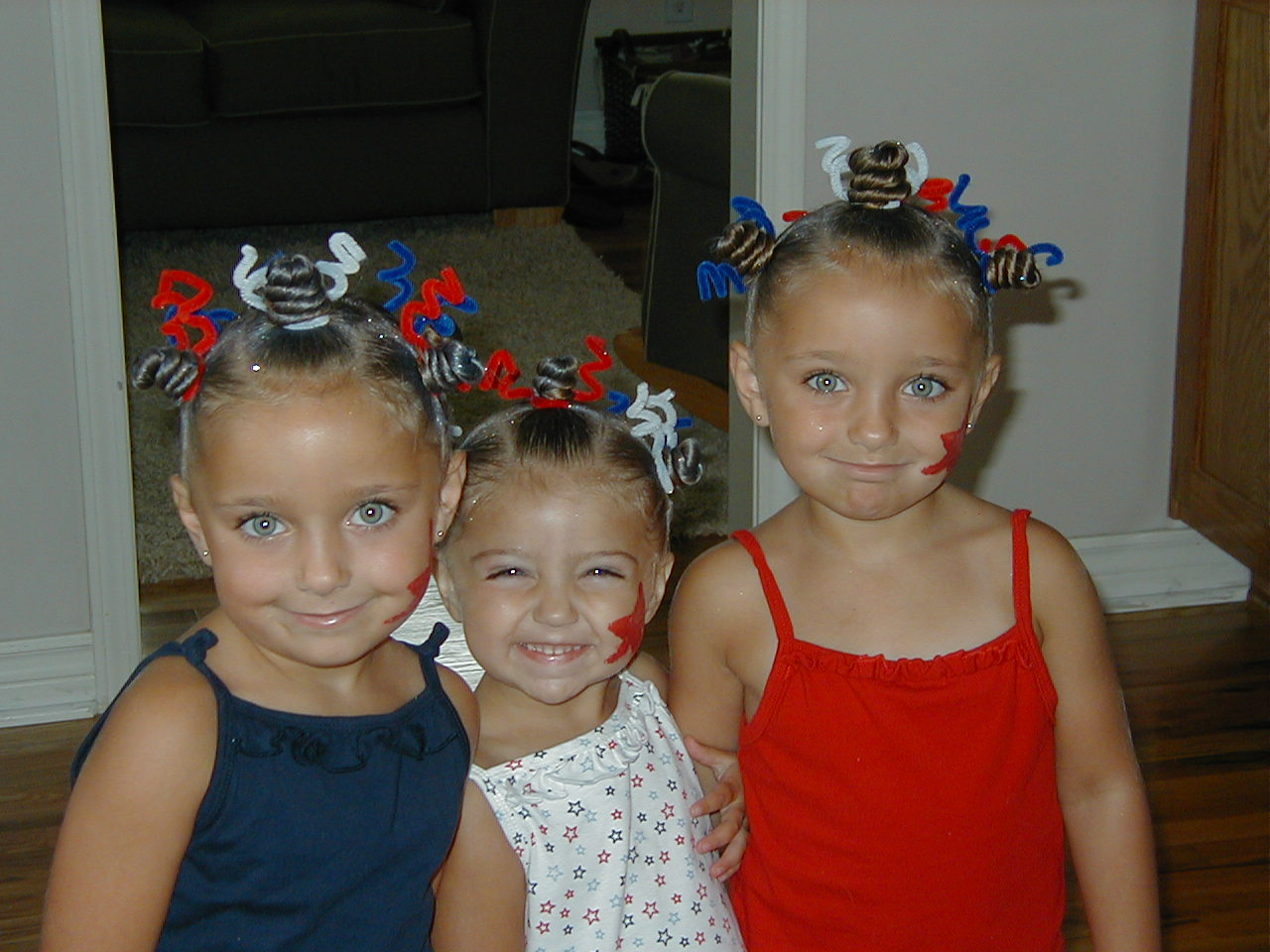 4th Of July Hairstyle Star Twists Cute Girls Hairstyles
