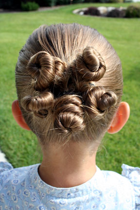 Rosette Buns | Updo Hairstyles