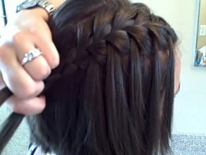 Waterfall Braid Hairstyles Tutorial