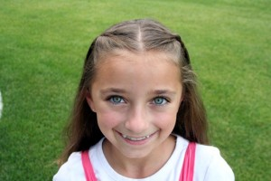 Portrait of young girl modeling the Double-Hidden Braids | Cute Hairstyles
