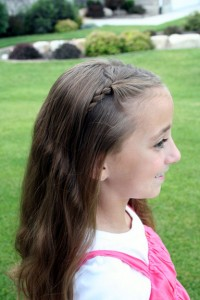 Side view of the Double-Hidden Braids | Cute Hairstyles