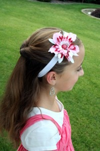 Side view of the Flipped Half Ponytail