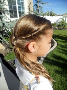 Side view of the Twistback Flip Under | Girls Hairstyles