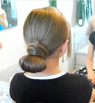 Hair-Crossed Bun