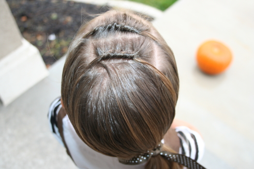 Cute Hairstyles: Tween Knots into Side Ponytail