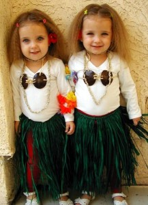 Twin Hula Dancers