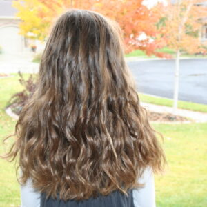 Back view of Beachy Curls