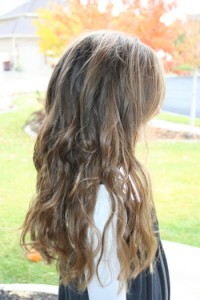 Side right view of Beachy Curls