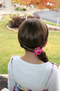 Back view of the Double-Twist into Side Braid