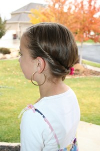 Double-Twist into Side Braid (Left)