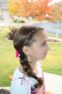 Right side view of the Double-Twist into Side Braid