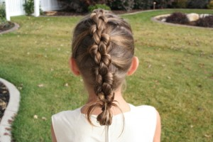 Back view of Knotted Braid hairstyle