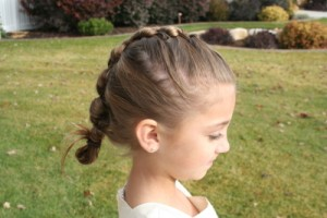 Side view of Knotted Braid hairstyle
