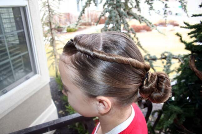 Side view of the Forward Twistback into Bun | Updo Hairstyles