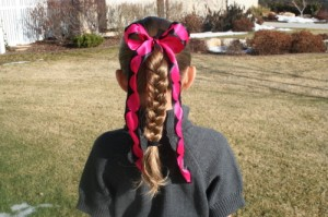 Back view of the Simple Braid | Daddy-Do Hairstyles