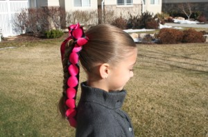 Side view of the Simple Braid | Daddy-Do Hairstyles