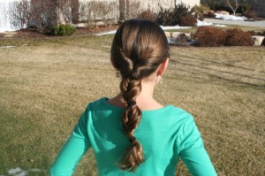 Triple-Flip Ponytail (Back)