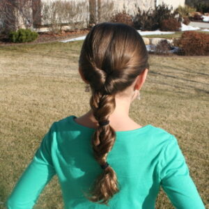 Back view of the Triple-Flipped Ponytail | Daddy-Do Hairstyles