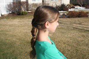 Triple-Flip Ponytail (Side)
