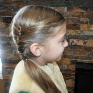 Side view of the Layered Ponytail