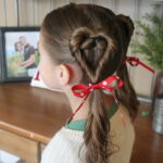 Double Heart Twists   Valentine's Day Hairstyles