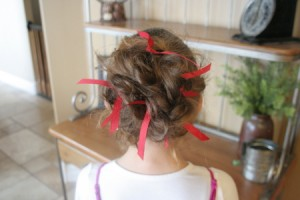 Holiday Messy Bun (Back)