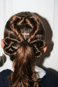 St. Patrick's Day Clover Hairstyle