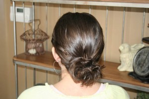 Twistbacks into Messy Buns (Back)