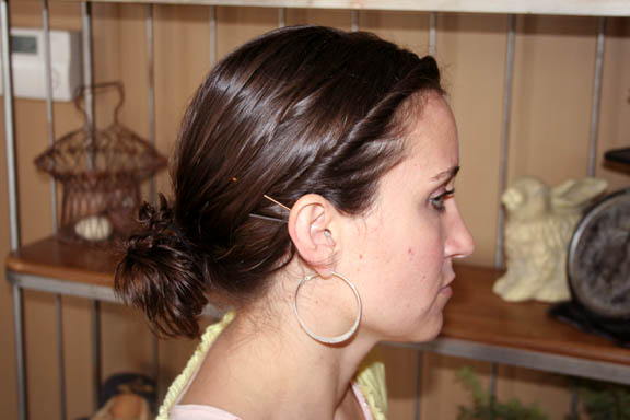 messy side bun hairstyles. Side View Twistbacks