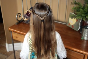 Waterfall Braid Hairstyle with Crimps