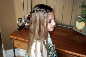 Waterfall Braid with Crimps