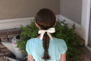 Back view of the Double Twist Ponytail