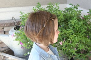 Side view of the Double French Twistback | Short Hairstyles