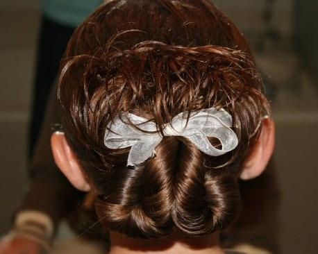 pretzel twist into messy bun  cute girls hairstyles