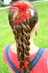 Back view of the Four Twist Ponytail | Daddy-Do Hairstyles