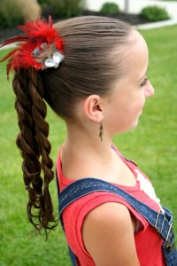 Four-Twist Ponytail (Side)