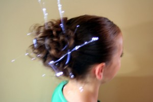 Side view of the Messy Glow Bun | 4th of July Hairstyles