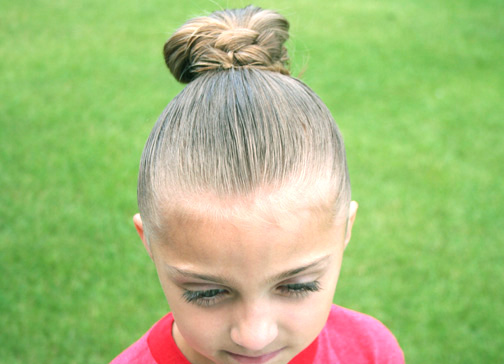 High Cheer Bun Updo Hairstyles Cute Girls Hairstyles