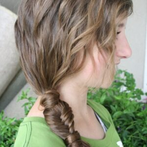 Side view of the Side Ponytail Combo | Teen Hairstyles