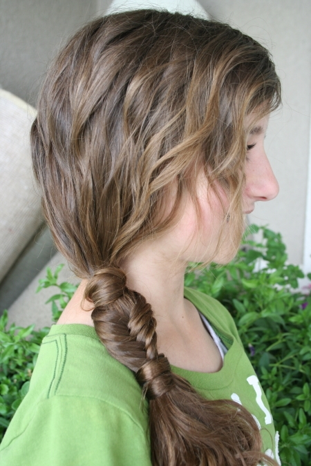 Side Ponytail Combo   Teen Hairstyles