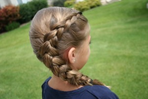 Side back view of the Same-Side Dutch Braid   Cute Hairstyles