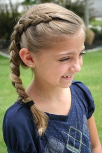 Front view of the the Same-Side Dutch Braid | Cute Hairstyles