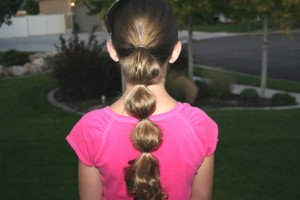 Back view of the Bubble Ponytail